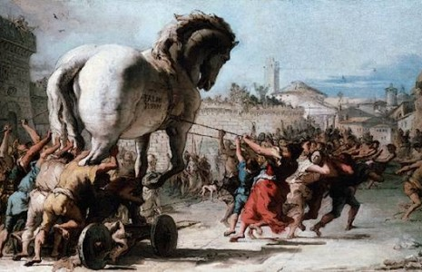 Accadde oggi 11 6 1184 a c scoppio della guerra di - Mitologia greca mitologia cavallo uomo ...