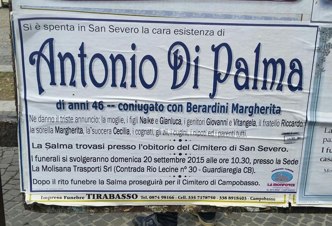 Antonio di palma funerali - Antonio palma ...