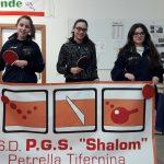 """Prova di forza delle pongiste petrellesi del PGS """"Shalom"""" Adriana Ruscitto, Giulia Di Stefano e […]"""